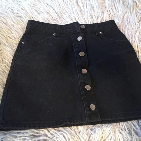 cdabffc7da9a Forever 21 Skirts | Black Jean Skirt From | Poshmark